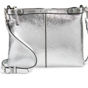 Treasure and Bond Metallic Leather Crossbody Bag